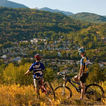 Father and Son Mountain Biking in Warfield