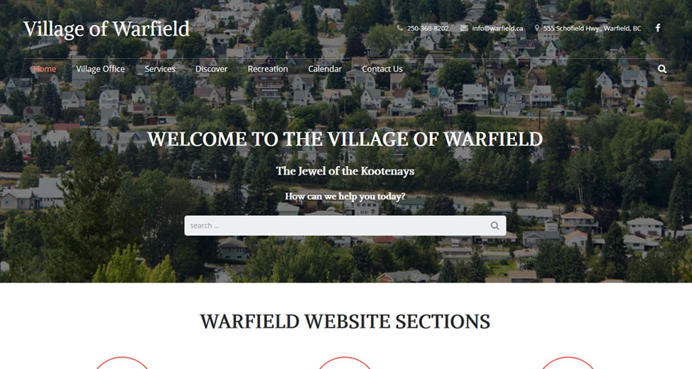 The New Village of Warfield Website is now live!