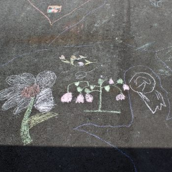 Warfield Kids Chalk Drawings at Village Square Park