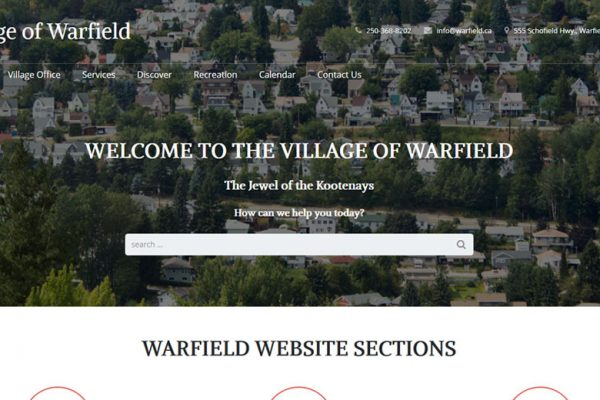 Village of Warfield New Website
