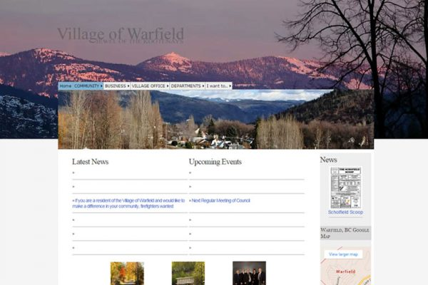 Village of Warfiled Old Website