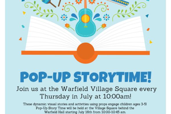 Warfield Pop Up Storytime